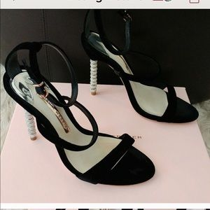 Sophia webster Black Rosalind velvet sandals